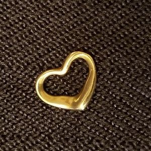 Vintage 14K 3-D Floating Heart Pendant